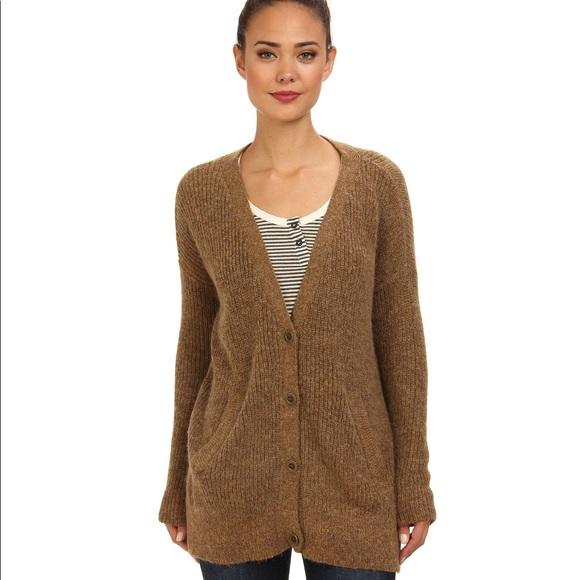 NWOT Free People Slub Knit Military Cardigan Sweater Size Small